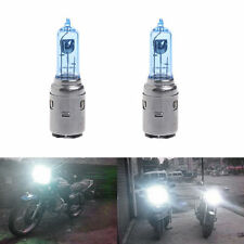 2pcs Motorcycle DC 12V 35W BA20D Headlight Halogen Blue Bulb Xenon White Light