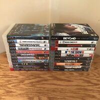 HUGE LOT PS3 Sony PlayStation 3 22 Games! Red Dead Uncharted MGS Shadow Colossus
