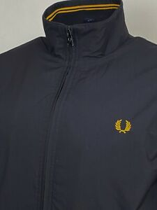 Fred Perry   Tipped Brentham Bomber Jacket M L (Black) Mod Scooter Terraces 60s