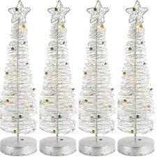 4x Weihnachtsbaum aus filigranem Metallgeflecht Weihnachts-Baum Batteriebetrieb