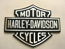 "HARLEY DAVIDSON BAR & SHIELD LOGO EMBLEM METAL 1"" 3/4 Wide X 1"" 1/4 Tall"