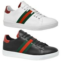 Mens Casual Black Lace Up Trainers Smart Boys White Party Holiday Sneaker Shoes