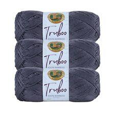 Lion Brand Yarn 837-150 Truboo Yarn, Slate (Pack of 3 skeins)