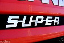 Únicas Acero Inoxidable Pulido Delantero Decoración SUPER señal para Scania