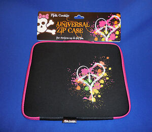Pink Cookie Tablet Case devices up to 10.1 In. Universal Zip Case Padded HEART