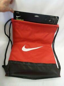 Nike Brasilia Gym Sack Drawstring Bag Back Pack Polyester Red NWT