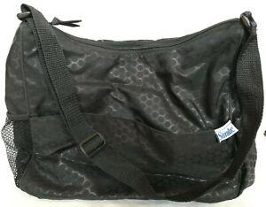 Similac Insulated Diaper Bag Travel Baby Toddler Black Key Fob Bottle Pockets