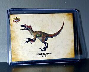 2015 Upper Deck Dinosaurs Utahraptor #S-18 Trading Sticker Card