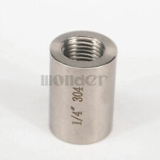 "1/4"" BSP Female 304 Stainless Steel Pipe Fitting Coupler water gas oil 4284 PSI"