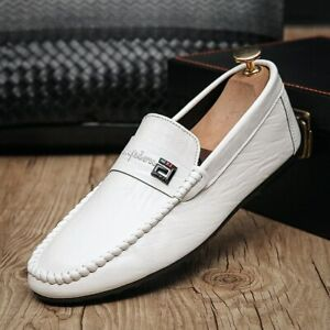 Men Shoes Casual Shoes Breathable Loafers Shoes Men Leather Shoes Men Flat Shoes