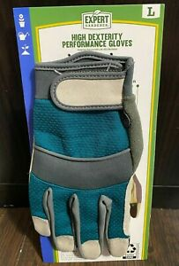 Expert Gardener Touchscreen Utility Gloves Elastic Cuff Size Large 1 Pair Pack
