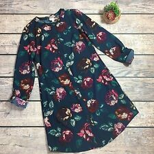 Merona Blue Long Sleeve Button Down Dress | Size XS