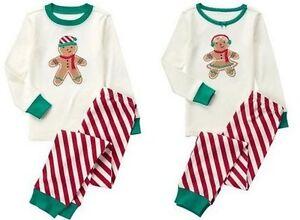 NWT Gymboree GINGERBREAD 2016 Christmas/Holiday Stripe Pajamas/Gymmies Boy/Girl