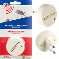 Ultrasonic Mosquito Repeller Anti Insect Bug Deterrent Holiday Home  EU Plug In