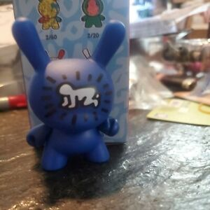 """Kidrobot KEITH HARING Dunny 3"""" Mini Series BLUE with Crawling New with box"""