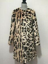 UGG Lisabeth Faux Fur Coat Jacket Leopard Print 1098850 Womens Size XS  XSmall 7f32d7106