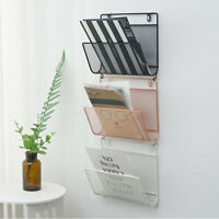 Novelty Wall Mount Metal Kitchen Basket Magazine Newspaper Rack Orgainzer Holder