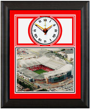 More details for football clock manchester united old trafford aerial