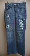 Taverniti So Jeans Peggy Medium Wash Denim Embroidered Patch Women's size 27