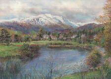 Callander & Ben Ledi Gateway to Highlands Scotland - United Kingdom Art Postcard