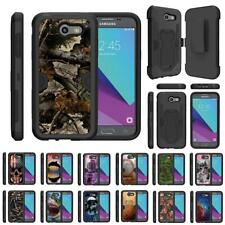 For Samsung Galaxy J3 Emerge / J3 (2017) Armor Holster Belt Clip Case Kickstand
