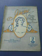 1896 Sheet Music, Irene by Benj S Shook, Black Composer