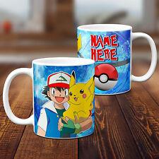 Personalised Pokemon Mug Childrens Birthday Cup Custom Text Boys Girls Gift