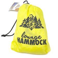 "Lounge Hammock Nylon Backyard Camping Travel Lightweight Compact Yellow 108""x55"""