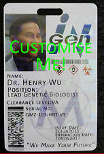 InGen Corp Cosplay Novelty ID Badge Card FULLY CUSTOMISABLE Jurassic World Park