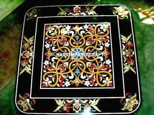 Natural Marble Dining Top Table Inlaid Art & FREE Marble Kishti Plate Restaurant
