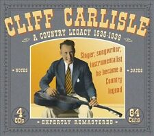 A Country Legacy: 1930-1939 [Box] by Cliff Carlisle (CD, Aug-2004, 4 Discs, Jsp)