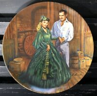 "KNOWLES Gone With The Wind ""Scarlett's Green Dress"" Limited Ed Collector Plate"