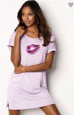 Victorias Secret Sleepshirt Keyhole Back Sleep Tee Night Gown Pajama NWT XL