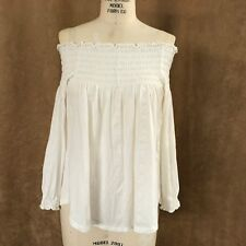 XS Ralph Lauren ivory casual top extra small womens knit off the shoulder