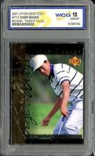 New listing 2001 Upper Deck Golf Tiger Woods RC Rookie Tigers Tales WCG 10 Gem Mint #TT-2