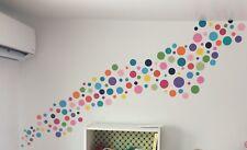 "3"" Variety Polka Dot Wall Decal Vinyl Sticker 31pc Nursery Boy Girls Kids Room"
