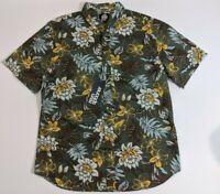 NWT Reyn Spooner tailored fit floral vintage Hawaiian aloha shirt Mens Size XL