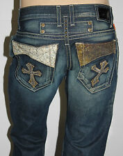 LIMITED OFFER!! New Men ROBIN'S JEAN sz 32 #D5363-1 GOTHIC-1 Straight Leg Jeans