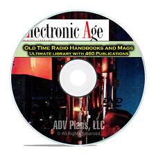 RCA Electronic Age, RCA Review, Tele Tech Review, 460 OTR Magazines DVD E53