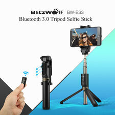 BlitzWolf BW-BS3 Handheld bluetooth Selfie Stick Monopod Tripod W/Remote Shutter