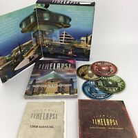 Timelapse Vtg Big Box PC Computer Game Journey Atlantis Mystery Scifi 1996