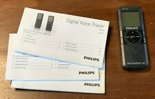 Philips Voice Tracer 600 Digital Audio Recorder w/ Instructions