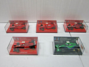 5 X MINICHAMPS~METALL~1:43~M. SCHUMACHER COLLECTION~EDITION 43 29-33~NEU+OVP~TOP