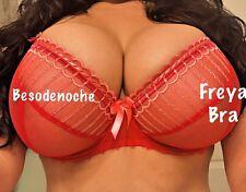 Freya 32ff 32 FF red sheer sexy bra see through bra very sexy