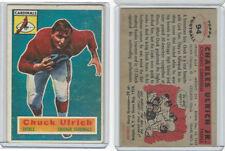 1956 Topps Football, #94 Chuck Ulrich SP, Chicago Cardinals