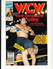 WCW #2 MARVEL COMIC BOOKS LOT WORLD CHAMPIONSHIP WRESTLING RON SIMMONS (1992)