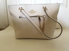 NWT Coach Town Car Tote in Crossgrain Leather - 34817 Chalk