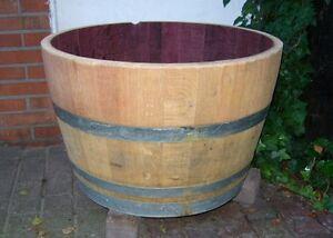Eichenfass Blumenkübel Pflanzkübel Fass Weinfass Holz Optik Regentonne 200 L