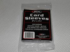 "100 Standard Trading Card Sleeves for 2 5/8"" x 3 5/8""  Plastic Protectors Holder"