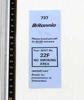 Britannia Airways - Abordando Pase - Boeing 737 BY581B-1980s - Buen Estado
